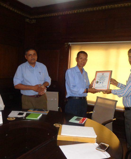 ISO 9001-2015 Certificate Handover